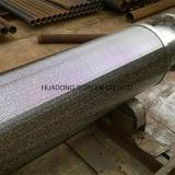 Tubo de la pantalla de agua del petróleo del alambre de la cuña de la base del tubo filtrante de la capa doble Ss304 316