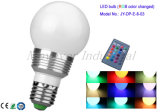 Multi-Color Remote-Controlled bombilla LED 3W de luz