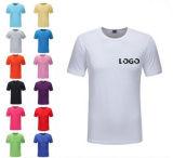 Принято клиентов мужчин с логотипом футболка с круглой горловины в различных цветов и размеров и материалов