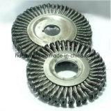 溶接のための熱い販売の縦桁によって結ばれるワイヤー車輪の粉砕機のブラシ