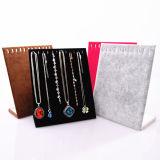Support de présentoir de bijoux en velours Fabricant Stand d'exposition en acrylique en bois intérieur (Ys21)