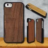 iPhone di legno naturale 7 6 casi con il PC gommato di base