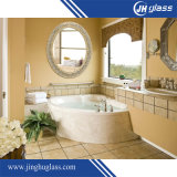 specchio della stanza da bagno di figura rotonda di 6mm Frameless