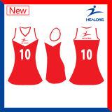 Qualitäts-Entwerfer-Farben-Digital-DruckenNetball Jersey