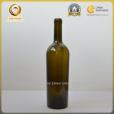 Esvazie 750ml corpo cônico de vidro verde garrafa de vinho (577)