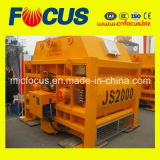 Высокое качество Js2000 Двойной вал конкретные миксер, принудительного цемента для продажи заслонки смешения воздушных потоков