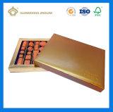 El papel de lujo hechos a mano la caja de embalaje de chocolate (con ventana)