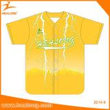 Pullover Unifroms di baseball di usura del gioco di baseball della maschera di sublimazione di Healong