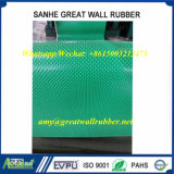 Grüner kleiner Gummigleitschutzbodenbelag-rutschfeste Matte des Stift-SBR/TPE