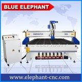 muebles plásticos de la talla grande de la base de 1800*3600m m que hacen la máquina, ranurador del CNC de la carpintería con el motor de alta velocidad del eje de rotación