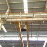 Кран европейского прогона двойника конструкции электрический надземный перемещая для мастерской использовал