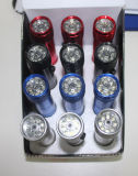 Torcia elettrica del laser del 8+1 LED alimentata da 3AAA
