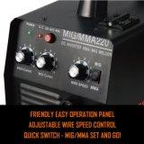 DC Invertr Gasless gas/máquina de soldadura MMA soldador MIG MAG