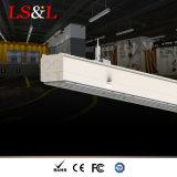Une connexion transparente Pendentif linéaires de LED lumineux (gradation d'agrégation/d'urgence est disponible)