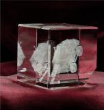 車機械水晶立方体の彫版