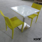 Белый твердой поверхности квадратный обеденный стол для четырех человек (180129)
