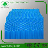 medias de colons de tube de purificateur de lamelle du bleu pp de 1mm pour le traitement des eaux d'eaux d'égout
