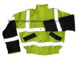 Uja006polyester 옥스포드 PVC/PU Non-Breathable/PU Breathable 외투 사려깊은 피복 Parka 비옷 Worksuit 재킷