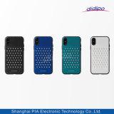 Caso da pilha luxuosa de couro sintética/telefone móvel para o iPhone X 8 Tacho 8plus 7 positivo