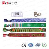 Wristband tessuto RFID a gettare con la serratura piana di plastica