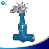 Valvola a saracinesca ad alta pressione motorizzata elettrica del dispositivo di tenuta a pressione della centrale elettrica