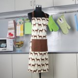 Os fornecedores chineses de baixo preço de venda direta de fábrica design bonito mulher avental de cozinha