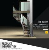 Escadaria da espiral do aço de carbono para interno ou ao ar livre
