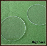 Placa de vidro circular ótica desobstruída de quartzo do silicone