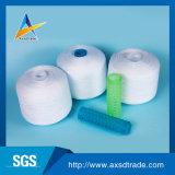 60S/2 100% de hilado de poliéster para hilo de coser las materias de color blanco brillante en China