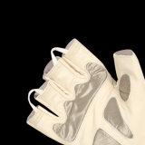 Weißer E-Handschuh für Polizei-Gerät mit dem halben Finger