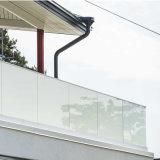 Sin cerco exterior barandilla de Vidrio Cristal Canal U barandilla de balcón