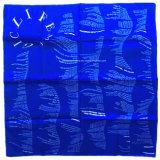 I prodotti dell'OEM della fabbrica della Cina hanno personalizzato il Bandanna dell'azzurro del cotone stampato lati bianchi di marchio due
