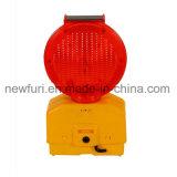 Lumière imperméable à l'eau solaire de feu clignotant de sécurité routière de lumière de signal d'échantillonnage du PC DEL