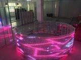 Couleur Intérieure P3.91 P5.92 P7.81 affichage LED en verre transparent