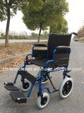 Silla de acero del transporte, sillón de ruedas manual