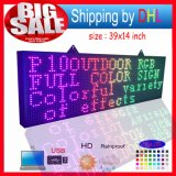 P10 LEDのSignboard 20X65のインチの防水プログラム可能なスクローリングカラーSMD伝言板