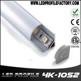 LED 빛 지구 바를 위한 알루미늄 채널 밀어남 LED 알루미늄 단면도