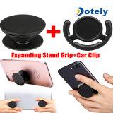 Support de téléphone de bruit + stand et adhérence en expansion de clip pour le support de véhicule de bruit de tablettes de téléphone
