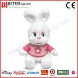 Brinquedo macio do coelho do luxuoso do coelho do animal enchido da boneca do afago En71 para miúdos do bebê