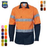 Van Katoenen van de Mensen van het Werk van de veiligheid het Eenvormige Overhemd Workwear van Kleren