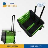 Carro rodado de compra de venda quente Eco-Friendly plástico de dobramento /Trolley de /Folding da cesta plástica