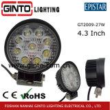 Rundes Quadrat 15W, 18W, 27W LED Arbeits-Licht für LKW-nicht für den Straßenverkehr Fahrzeug