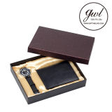 1. Best Salts Genuine Leather Mens Wallet with Watch Metal Fountain PEN for Gift Set