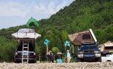 熱い販売420dオックスフォードFoldableキャンプアーク車の屋根の上のテント
