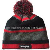 Chapeau tricoté acrylique de Beanie de broderie faite sur commande de logo de produit d'usine de la Chine