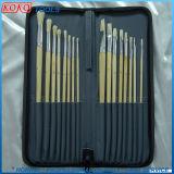 12 piezas Set Mango de plástico o de lana de mango de madera artista Artículo Set pincel del pintor aceite