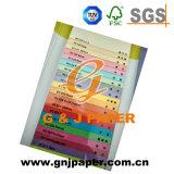 Tarjeta de papel de colores de alta calidad para la venta
