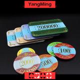 カジノの正方形チップを青銅色にするアクリルの水晶/ポーカー用のチップの王冠はカスタムである場合もある(YM-CP004)