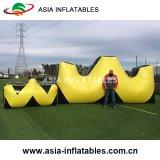 Bewegliche W-Form aufblasbares Paintball Bunker-Bogenschießen-Ziel