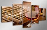 Impression de HD sur la peinture de toile de l'image estampée par impression d'impression de toile d'expédition de vin et de cigare de décoration de pièce